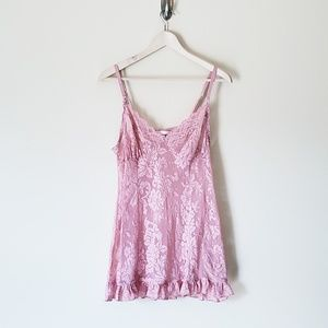 VS Baby Pink Lace Chemise